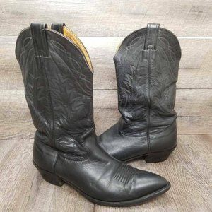 Nocona Men's Western Black Leather Boots